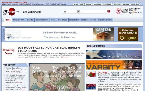 GoErie Homepage