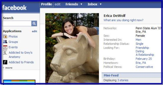 Erica DeWolf\'s Facebook Profile