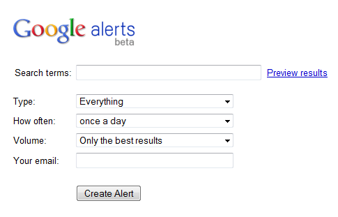 Step by Step Google Alerts